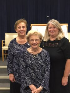 Donna King and Linda Stockner receive 40 year pins (pictured with mom Lois)